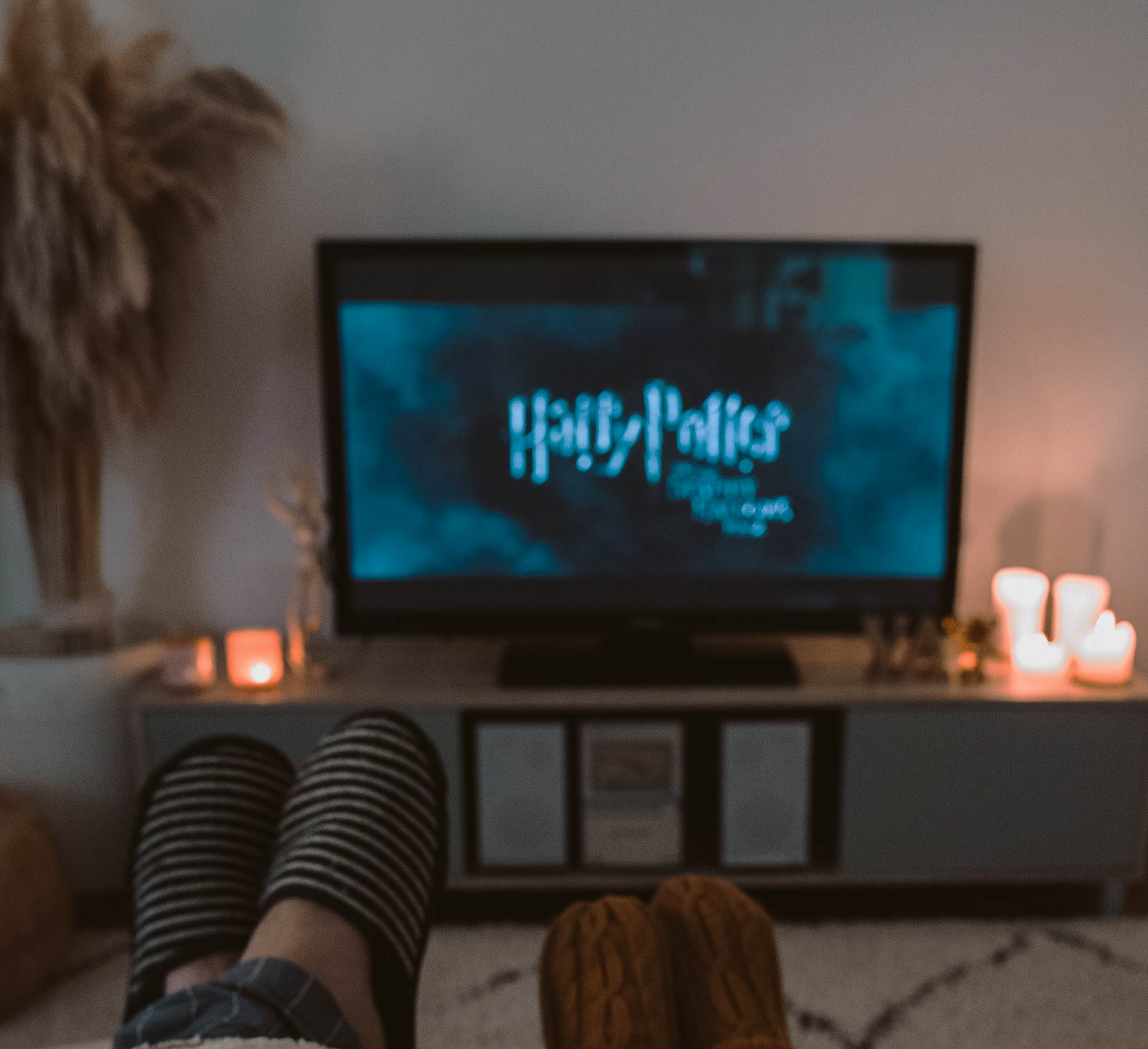 A lying couple is watching Harry Potter